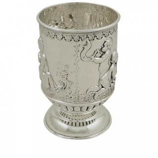 Antique Victorian Sterling Silver Christening Mug/Tankard 1899