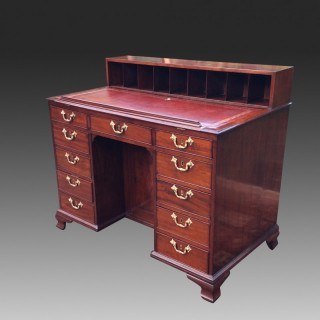 Antique Gillows Mahogany Knee-Hole Architects Desk