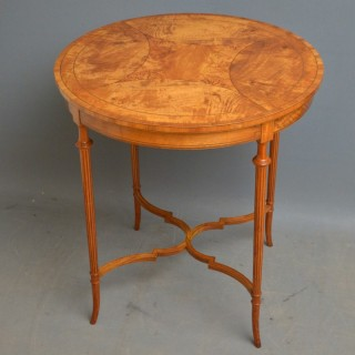 Edwardian Satinwood Centre Table