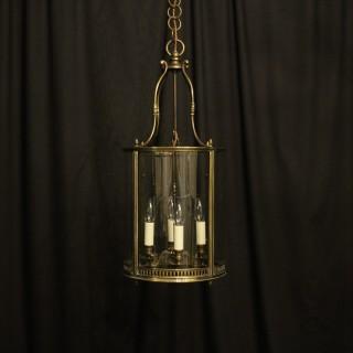 English Bronze Four Light Antique Hall Lantern