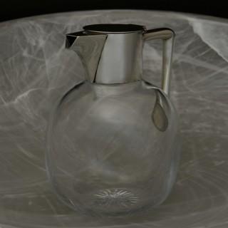 Silver Topped Cut Glass Claret Jug