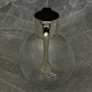 Silver Topped Cut Glass Claret Jug
