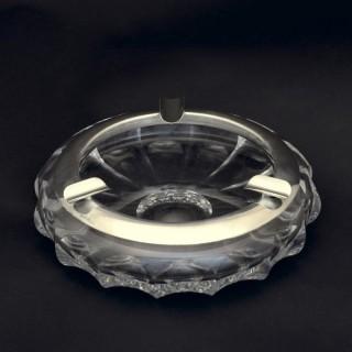 Cut Glass and Silver Cigar Ashtray