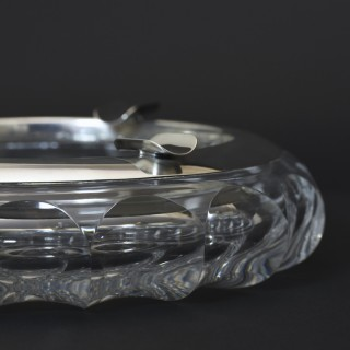 Cut Glass and Silver Cigar Ashtray