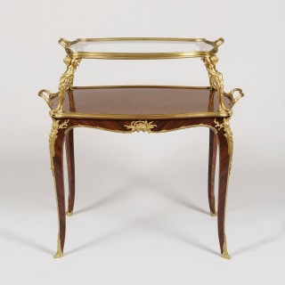 A Louis XV Style Ormolu-Mounted Table à Thé by François Linke.