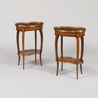 A Pair of French Tables Ambulante in the manner of Charles Topino