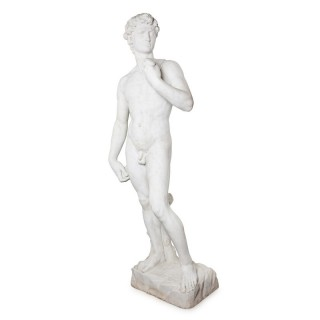 Large marble figure after Michelangelo's 'David'