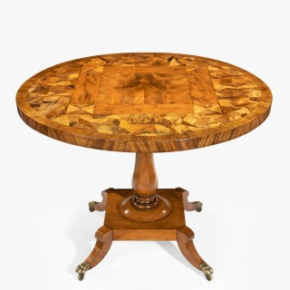 A George IV tilt-top specimen table
