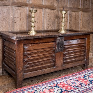 Henry VIII oak carved chest