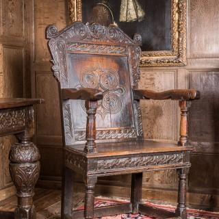 Charles I oak armchair