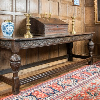 Late Elizabeth I oak long table