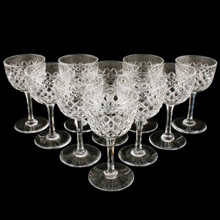 Set of Ten Edwardian Port Glasses