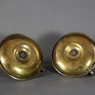 A PAIR OF EARLY 19TH CENTURY CHAMBER STICKS