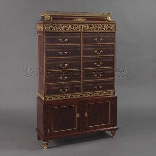 A Rare Mahogany Folio Document Cabinet