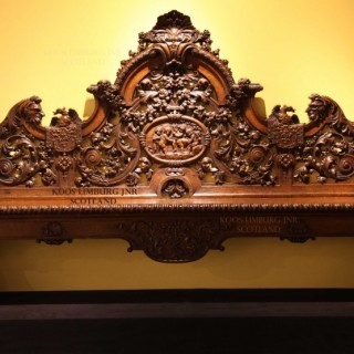 A rare, very decorative oak hall bench, beautiful carved after a design of Daniel Marot.