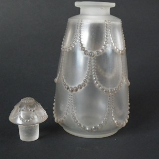 Rene Lalique Glass 'Perles No.3' Perfume Bottle
