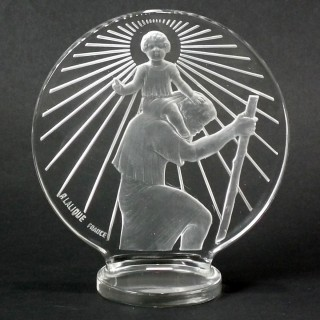 Rene Lalique Glass 'Saint-Christophe' Car mascot