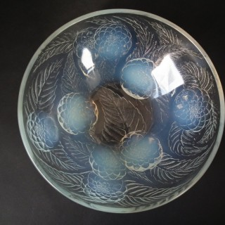 Rene Lalique Opalescent Glass 'Dahlias No.1' Bowl