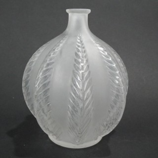 Rene Lalique Clear & Frosted Glass 'Malines' vase