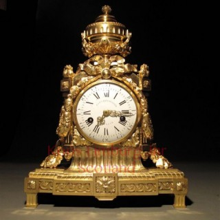 A very impressive Louis Seize pendule, Still with the original ormolu.
