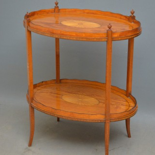 Late Victorian Satinwood Tray Table