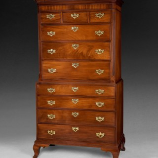 George III Period Mahogany Tallboy or Chest on Chest