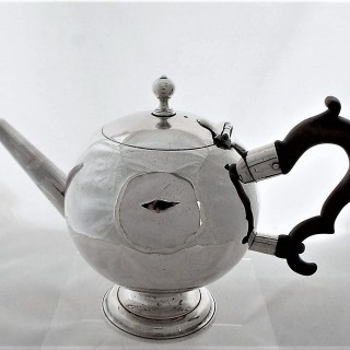 Rare George I Scottish silver bullet teapot Edinburgh 1725 William Aytoun