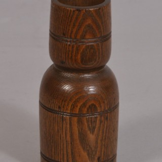 Antique Treen 19th Century Ash Double Ended Spice Measure