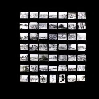 A Unique Collection of Forty-Nine Light-Box Framed Lantern Slides of WWI Interest c.1914-18
