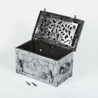 17th century ornate strong box