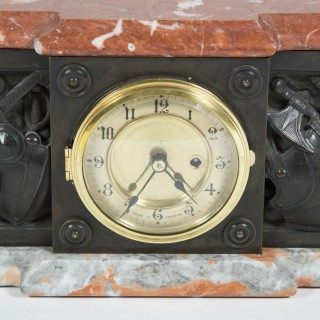 Marble and bronze plinth clock.
