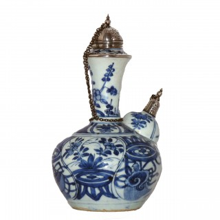 Ming Blue and White Porcelain Kendi