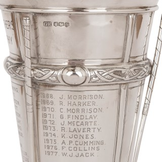 Art Deco period silver golf cup by Harrison Brothers & Howson