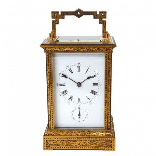 Extremely rare French Giant Carriage Clock