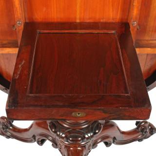 Oval Rosewood Breakfast Table