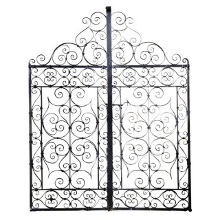 A pair of 19th century wrought iron garden gates