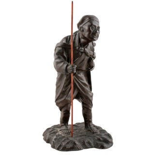 Japanese Bronzed Metal Figure