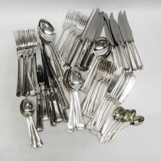 Silver Canteen of Art Deco Cutlery