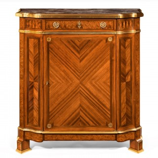 Gilt Bronze-Mounted Kingwood and Bois De Satine Side Cabinet by Maison Soubrier, Paris.