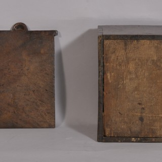 Antique Treen Early 18th Century Burr Oak Candle Box