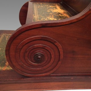 Set of Regency mahogany library steps.