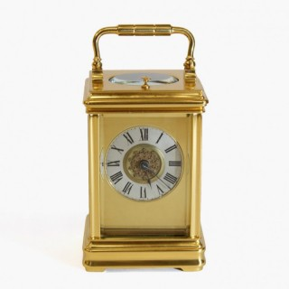 Small French striking Carriage Clock