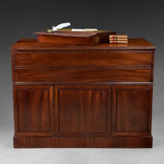 Gillows Mahogany Library Secretaire Centre Cabinet
