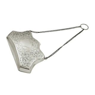 Antique Sterling Silver Purse 1911