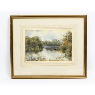 Antique Landscape Watercolour by Keeley Halwelle RI 19th C