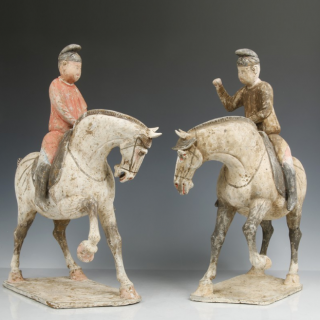 A Pair of Tang Equestrian Riders