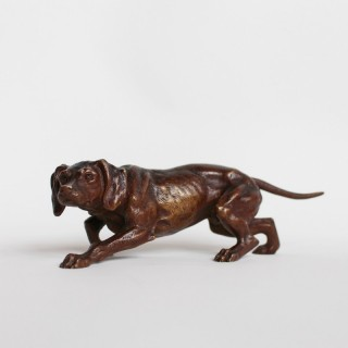19th Century Bronze Dog