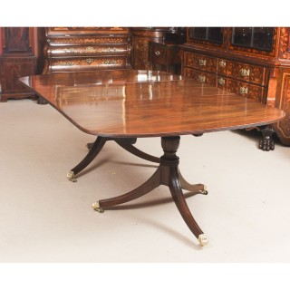 Antique George III Regency Dining Table 19th C with 8 Bespoke Dining Chairs