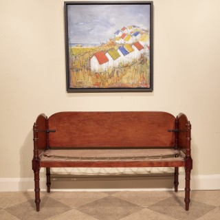 Regency Mahogany Campaign Sofa
