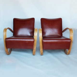 A Pair of Jindrich Halabala Art Deco Chairs
